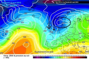 weerkaart GFS 2012