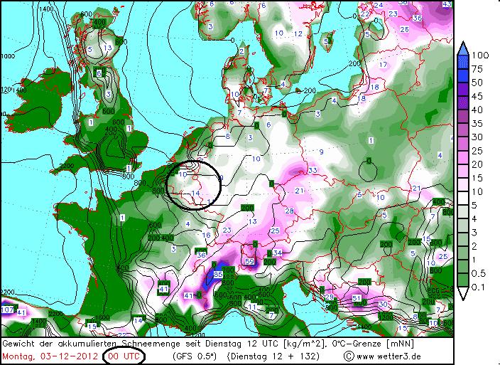 sneeuwkaart belgië