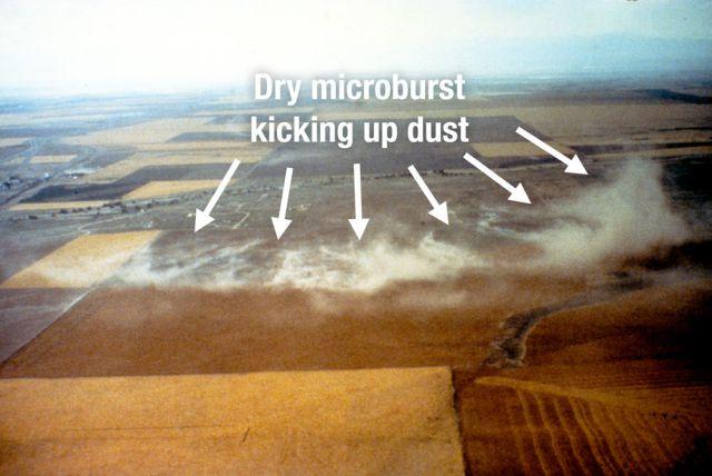 voorbeeld droge microburst