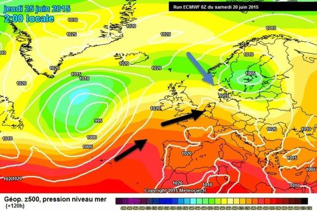 weerkaart- donderdag- ECMWF