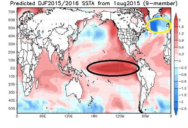 Seizoensverwachting-El Nino