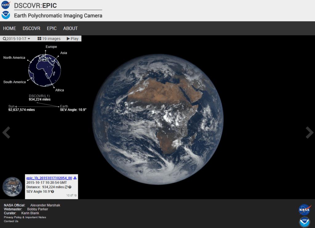 Printscreen van de website. Een beeld van 17 oktober 2015.