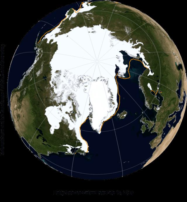 Satelliet zeeijsbedekking Noordpool