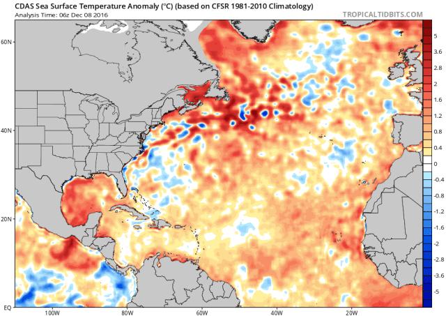 analyse december atlantische oceaan