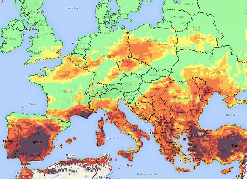 extreme droogte rond middellandse zee