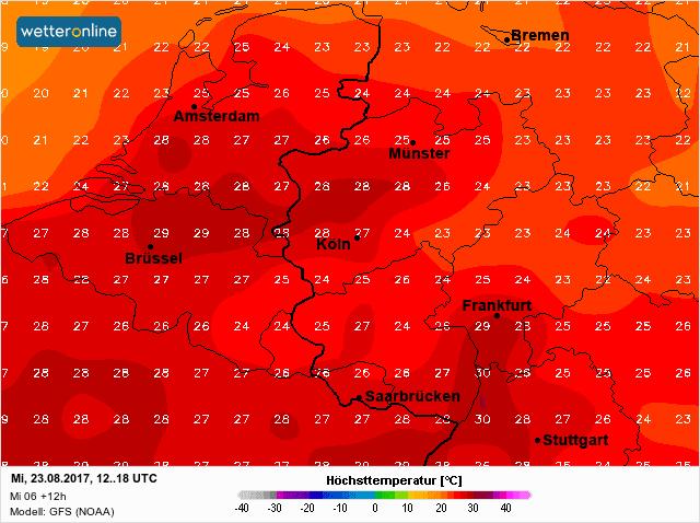 temperatuur woensdag