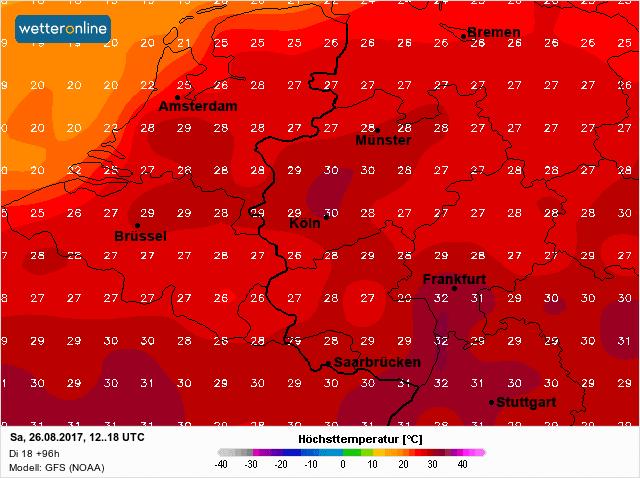 temperatuur zaterdag
