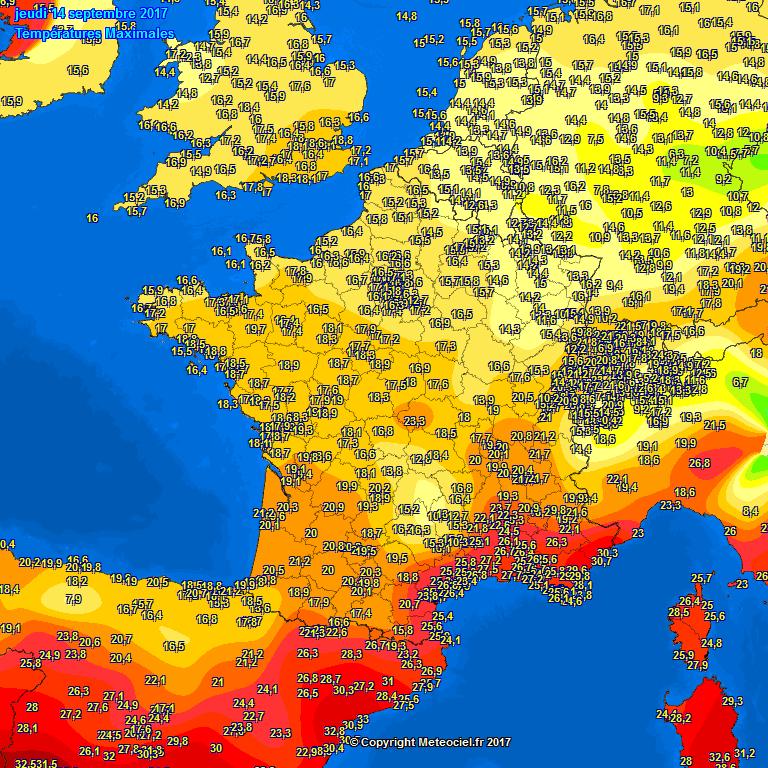 Op dinsdag 14 september kregen de oostelijke gebieden in de Benelux de koudste dag tot nu toe voorgeschoteld. Maxima daar rond 13 à 14 graden. In het westen was het toen een tikkeltje zachter.