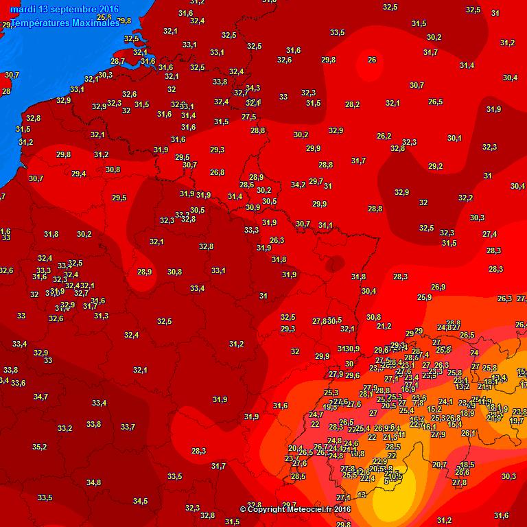 Tropische temperaturen zorgen voor heet weer in de Benelux. Op dinsdag 13 september klom het kwik tot lokaal 34 graden in België, en tot lokaal 33 graden in Nederland.