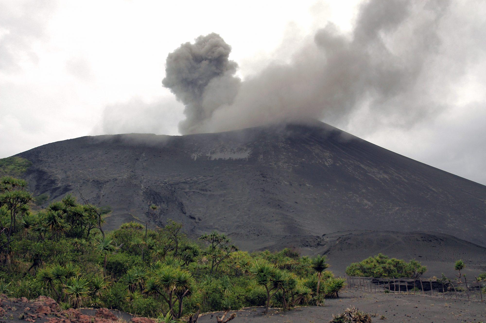 Yasur vulkaan op Tanna (Vanuatu)