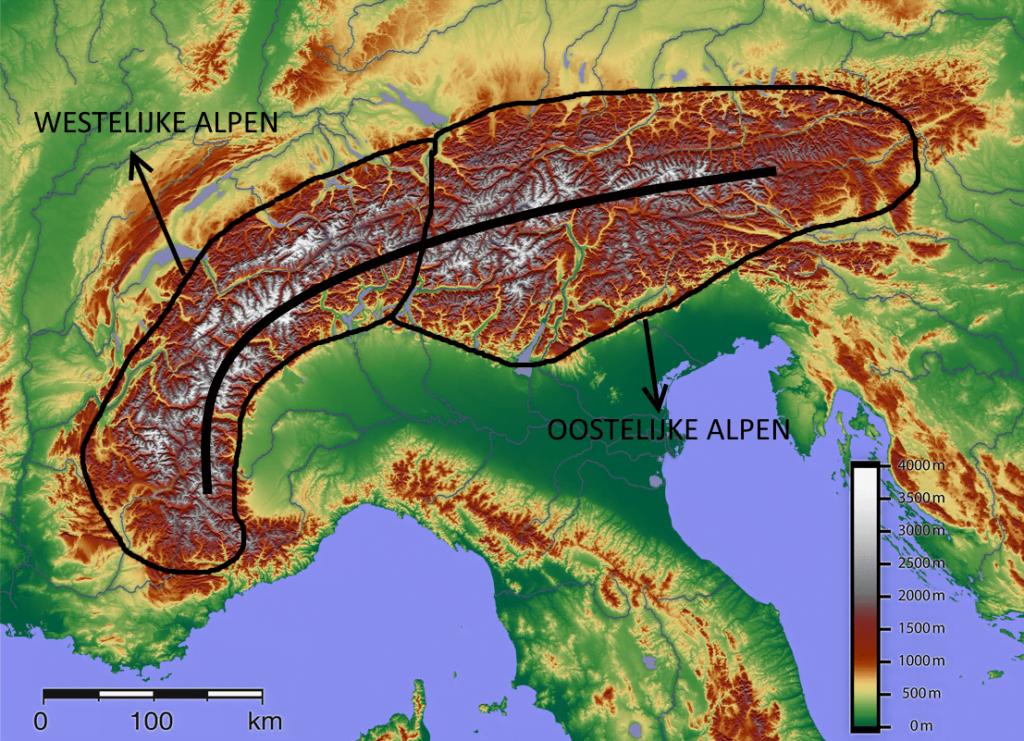 Westelijke versus oostelijke Alpen