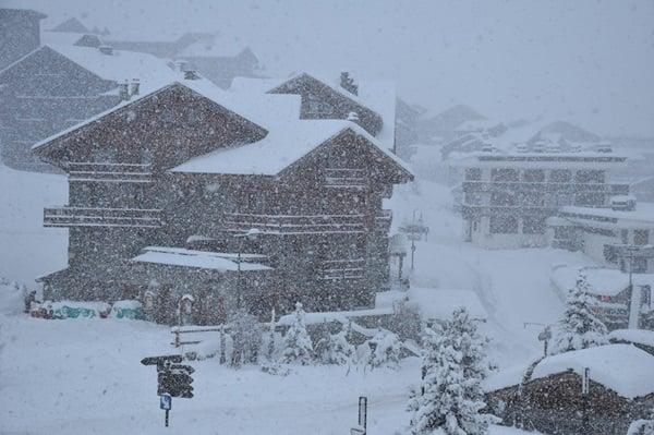 Sneeuwval in Tignes