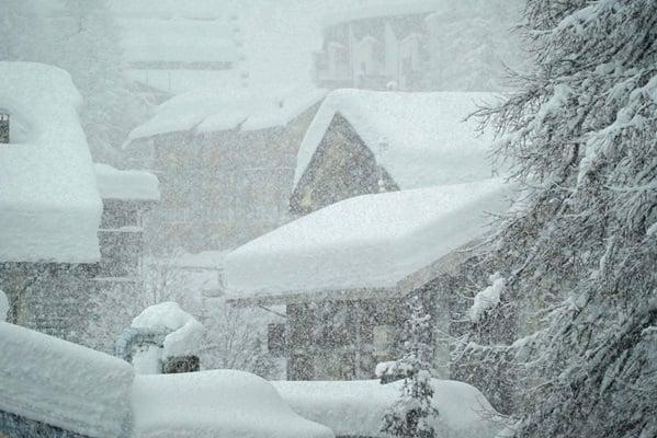 Sneeuwval in Cervinia.