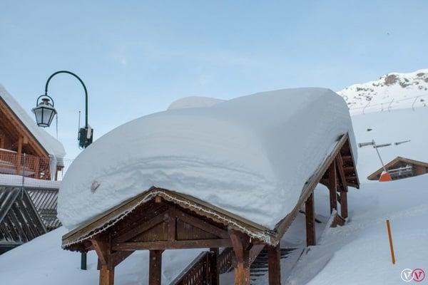 Sneeuwval Val Thorens.