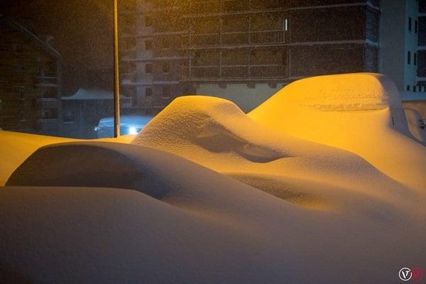 Sneeuwval Val Thorens