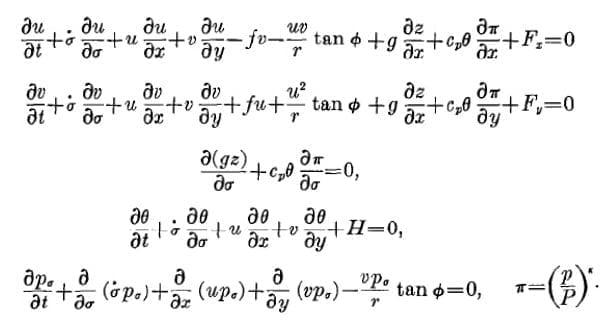 primitiveEquations