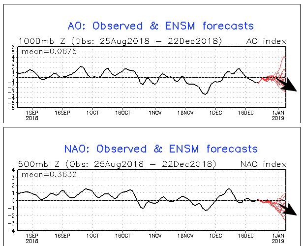 AO- en NAO-index voorspelling