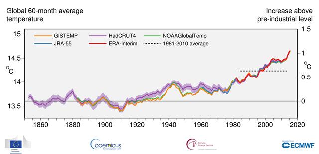 temperatuur trend
