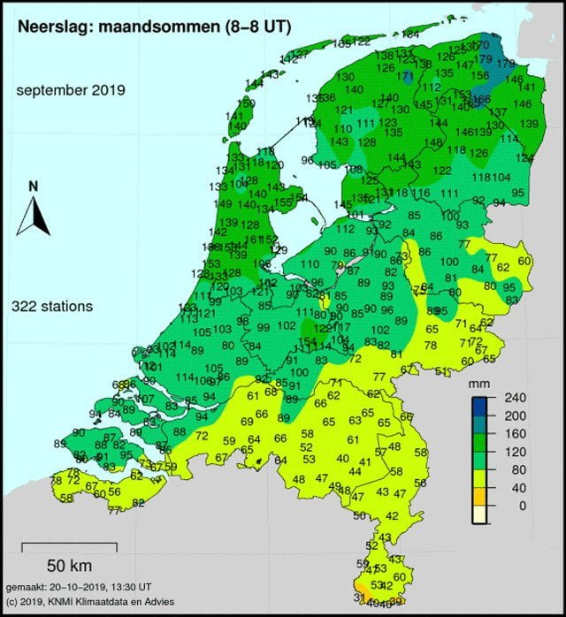 droogte van 2019 nederland september