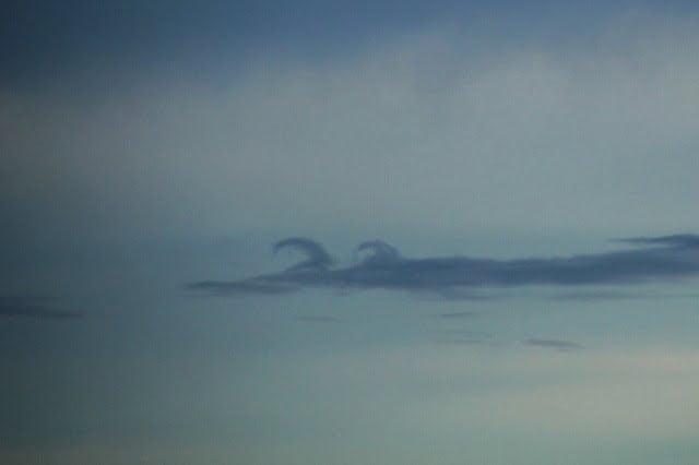 Kelvin-Helmholtz wolken