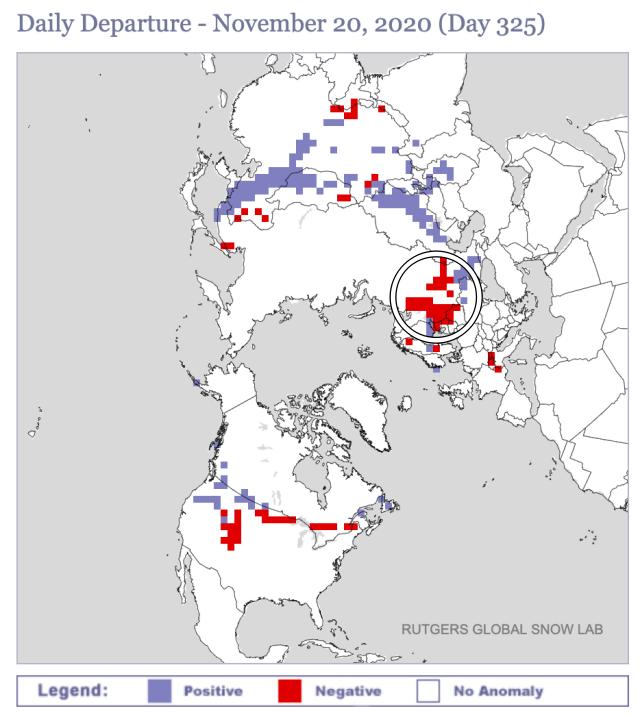 Sneeuwdek anomalie