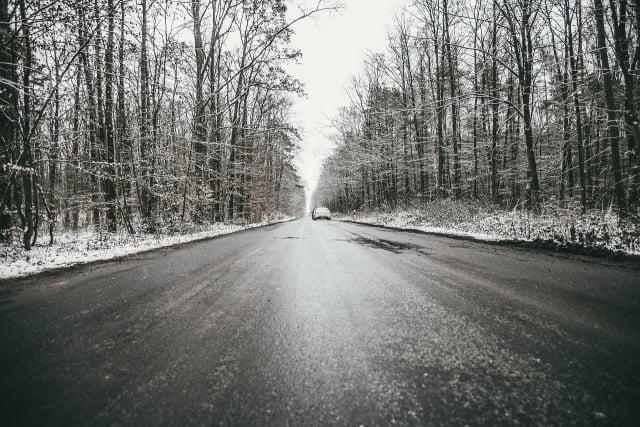 wintergladheid: weg