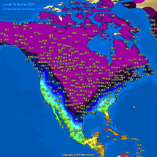 Minima Noord-Amerika
