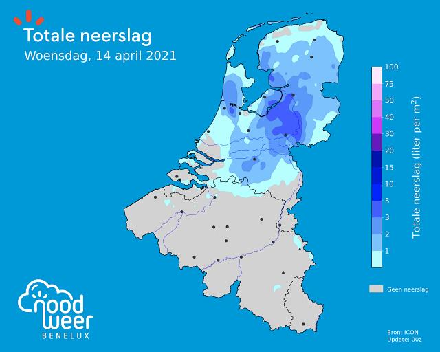 Neerslag tijdens Brabantse Pijl 2021