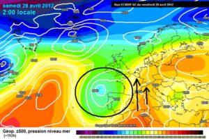weeromslag op komst volgens europees weermodel