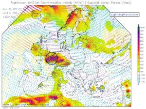 gevaarlijke storm relative helicity
