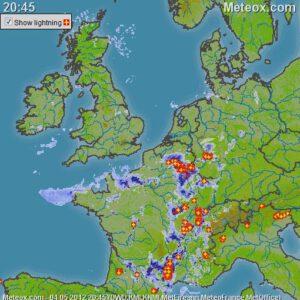 onweerscomplex noordoosten Frankrijk