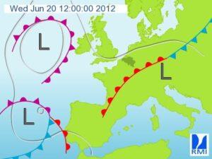 weerbericht 20 juni (positie fronten)