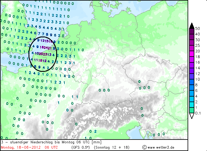 veel regen in het weerbericht 17 juni