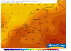 temperatuur tomorrowland