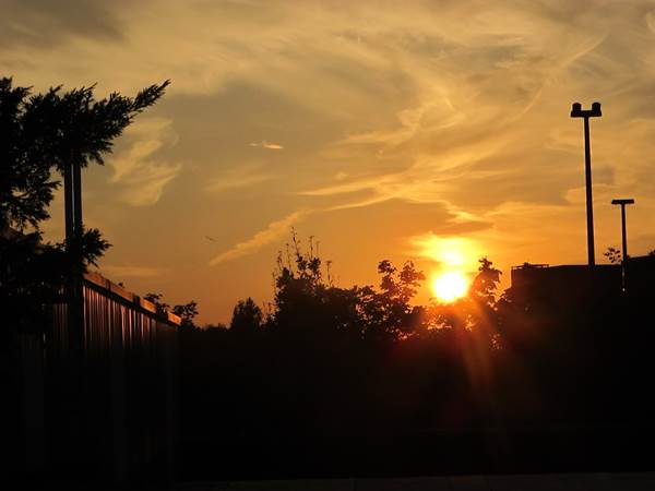 zonsondergang augustus