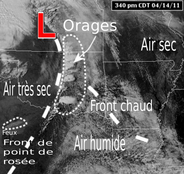 voorbeeld frontaal onweer