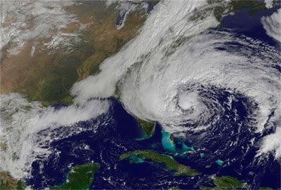 orkaan sandy foto