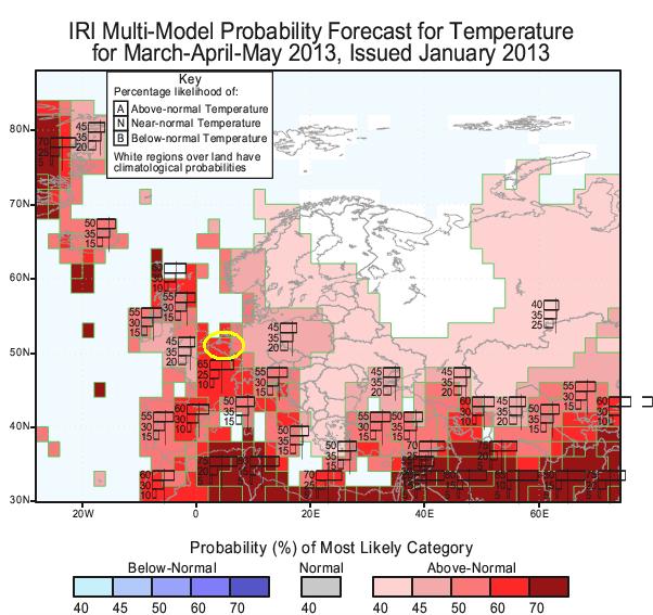 lenteprognose 2013