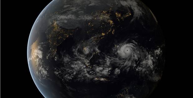 satellietbeeld typhoon haiyan