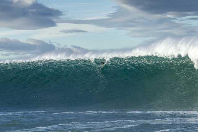 surfen op hoge golven
