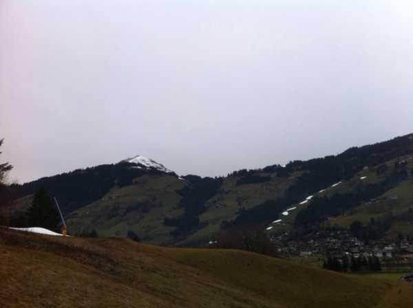 weinig sneeuw in de Alpen (2014)