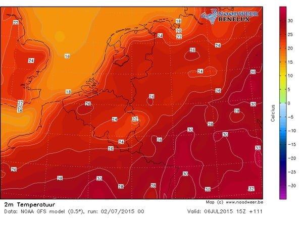 maandag-GFS-temperatuur