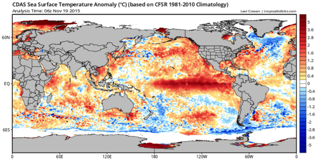 analyse el nino 19 november 2015