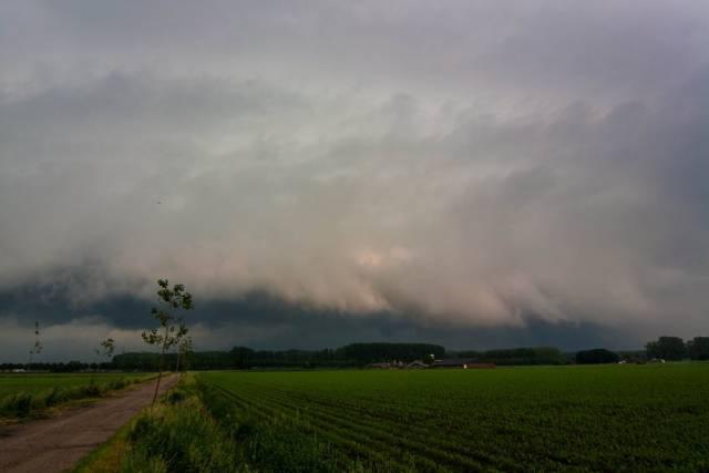 lage treksnelheid onweer