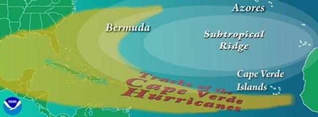 pad tropische cyclonen