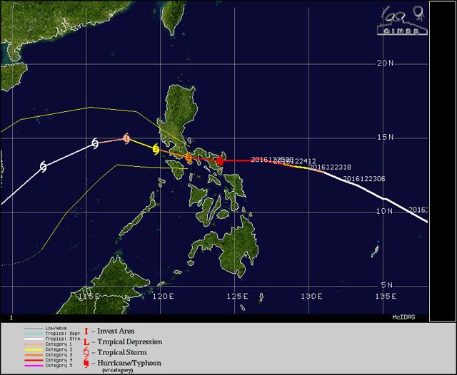 tyfoon koers