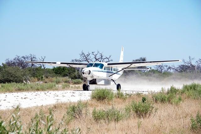 Een Cessna-vliegtuigje.