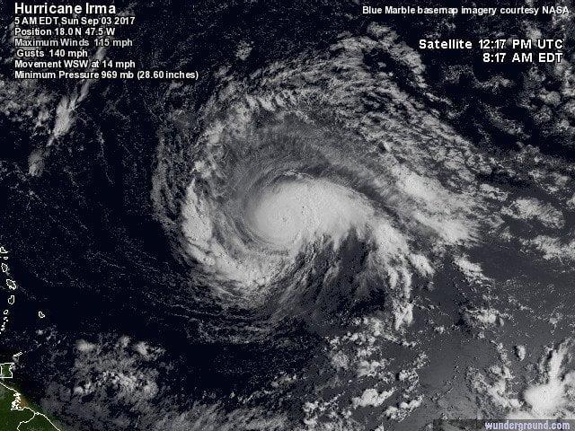 satellietbeeld hurricane irma
