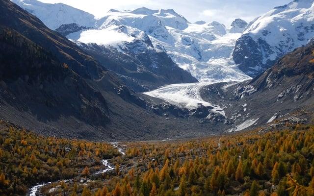 Morteratsch gletsjer Lander