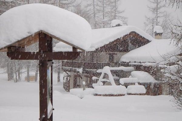 Veel sneeuw in de Alpen